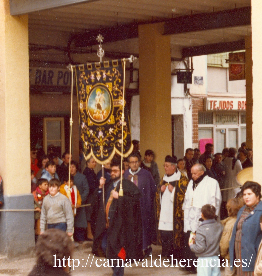 Estandarte de Animas, Ofertorio Carnaval de Herencia 2012.