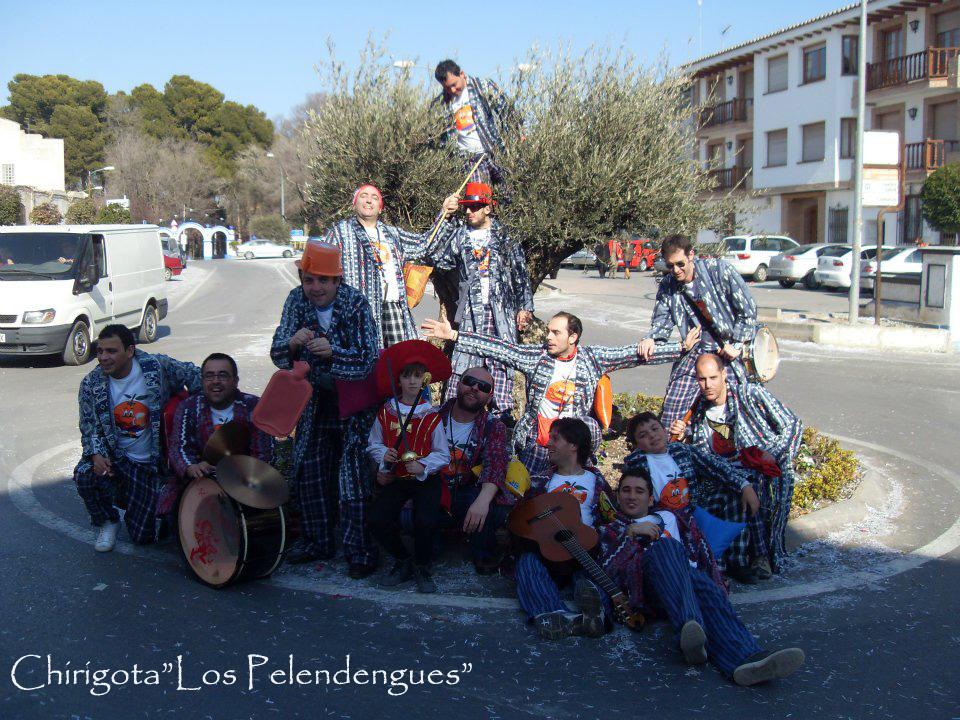 """Chirigota """"Los Pelendengues"""" Carnaval de Herencia 2012."""