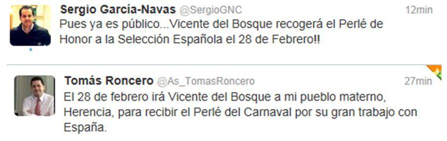 Vicente del Bosque - Vicente del Bosque estará en la inauguración del Carnaval de Herencia