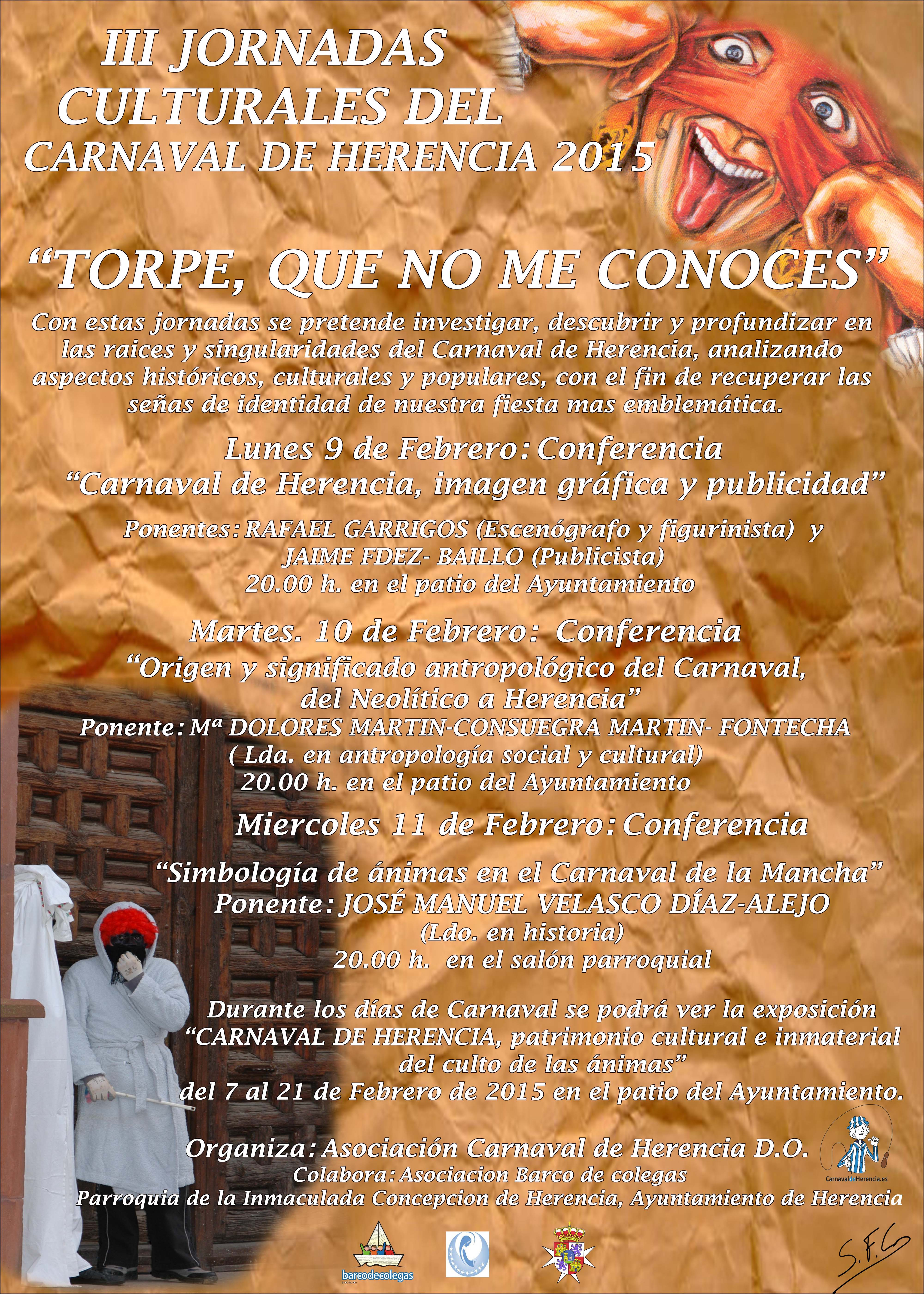 Cartel final III Jornadas2015, bajo