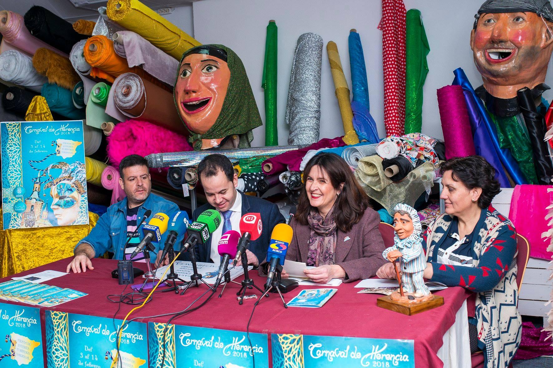 Manu Tenorio pregonero Carnaval de Herencia. Foto redes sociales.