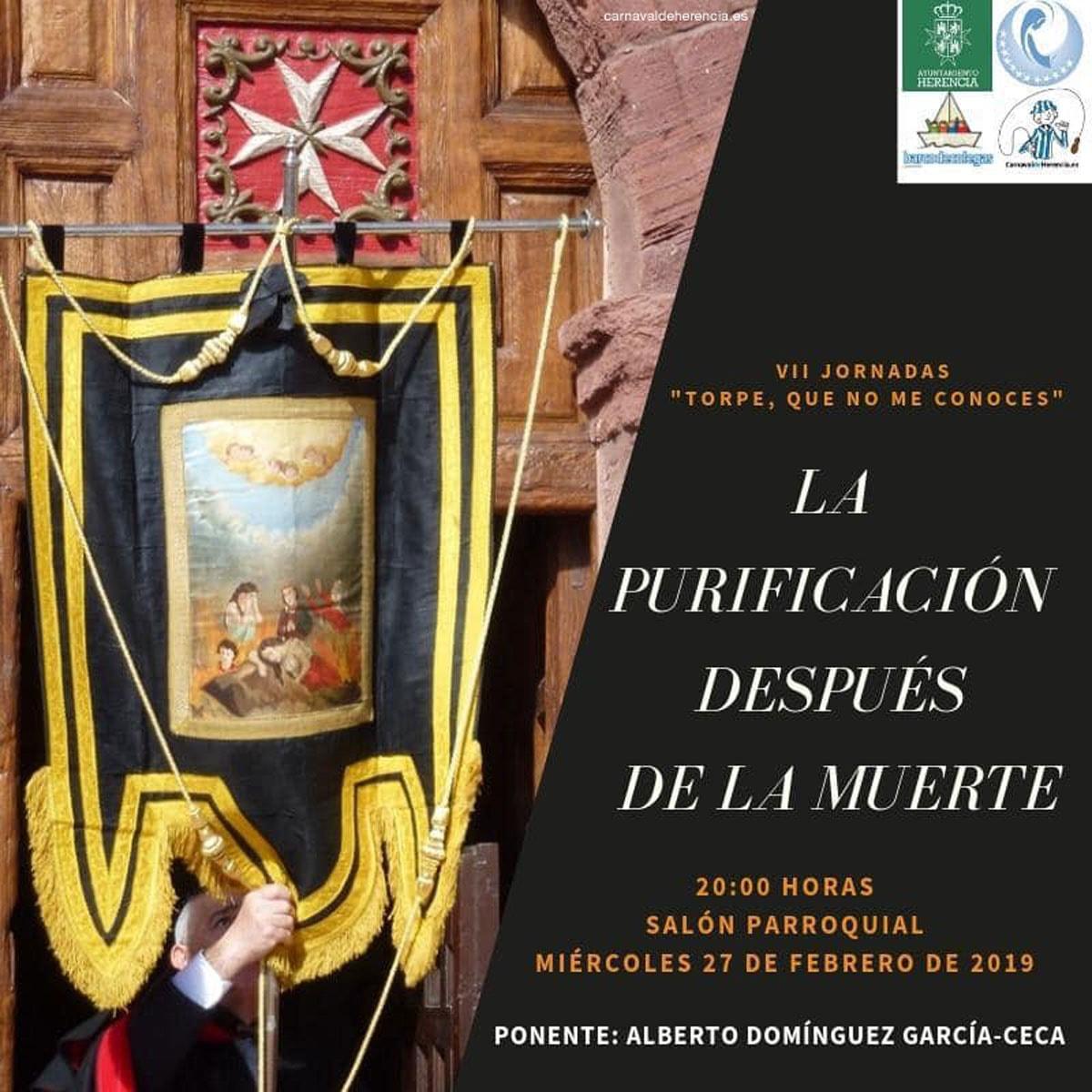 """""""La Purificación después de la muerte"""" en las Jornadas Culturales del Carnaval de Herencia"""
